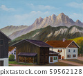Several houses and a barn in the mountains 59562128