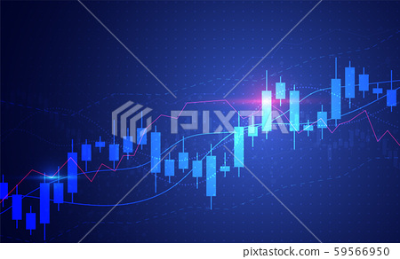 Business candle stick graph chart of stock market 59566950