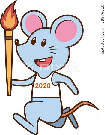 鼠標火炬賽跑者 59576019