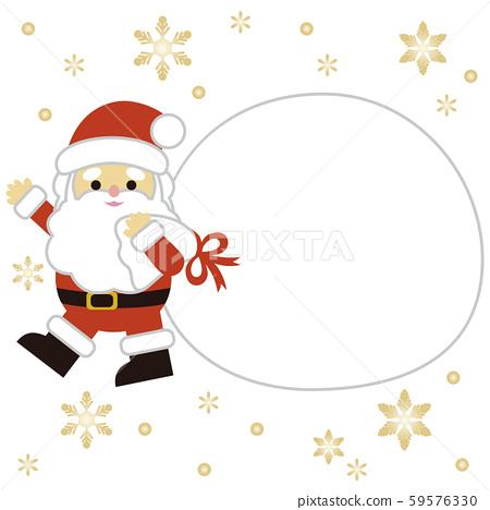 聖誕聖誕老人和禮物袋 59576330