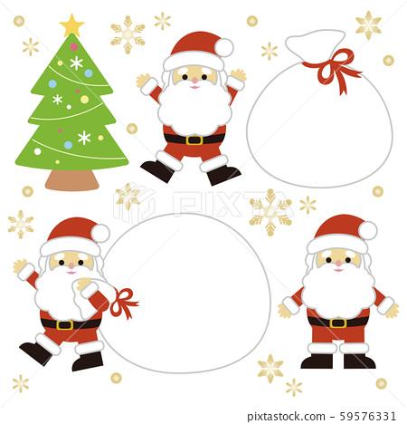 聖誕聖誕老人和禮物袋 59576331