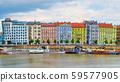 Multicolored buildings in Prague on the Moldavian 59577905