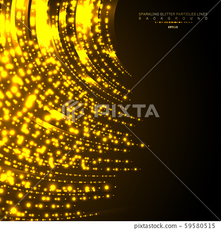 Gold lights shiny curved line glitters holiday 59580515