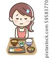 厌食症的妇女 59583770