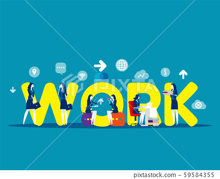 Business modern people. Concept buisness vector 59584355