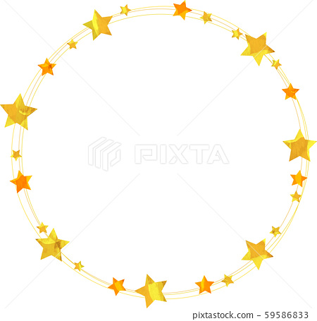 Star_Frame_Circle_Illustration_Cut-out Christmas_Wreath_star_Tanabata 59586833
