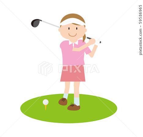 골프 여자 59586965