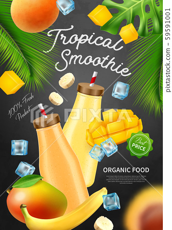 Tropical Smoothie Advertising Poster 59591001