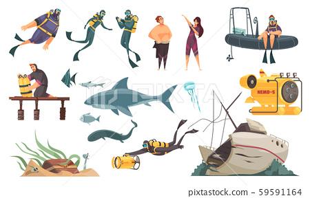 Scuba Diving Set  59591164