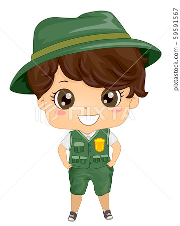 Kid Boy Park Ranger Uniform Illustration 59591567