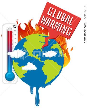 Global warming with earth on fire 59592838