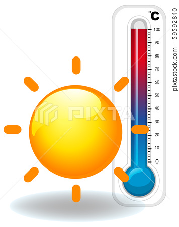 Thermometer and hot sun 59592840