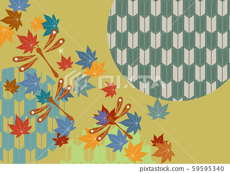 Japanese pattern cut dragonfly with dragonfly motif, dragonfly, autumn, japanese pattern, sum, japanese pattern, background, 59595340