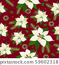Christmas seamless pattern with poinsettia plant 59602318