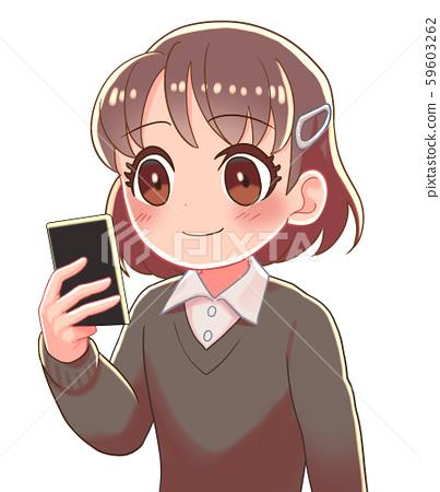 소녀 마호 미소 59603262
