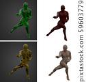 3d rendering illustration of skeleton bone anatomy collection 59603779