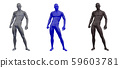 3d rendering illustration of skeleton bone anatomy collection 59603781