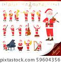 flat type Santa Claus_classic music 59604356