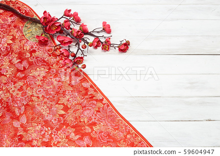 Chinese New Year decoration on a red background 59604947