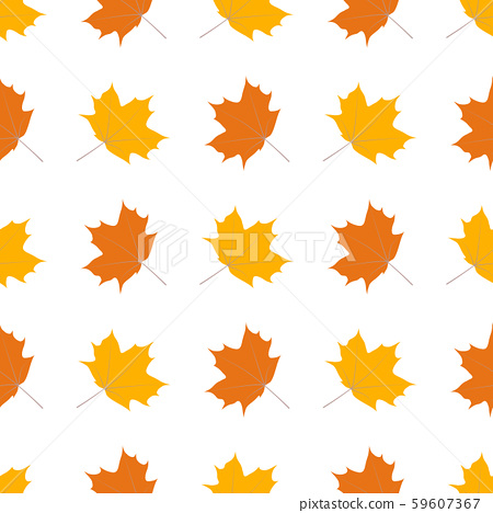 Seamless vector pattern with autumn leaves on a 59607367