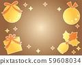 황금 크리스마스 장식과 선물 상자 59608034