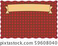 베이지 색의 리본과 빨간 체크 프레임 59608040