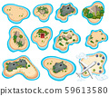 A Set of Beautiful Tropical Island 59613580