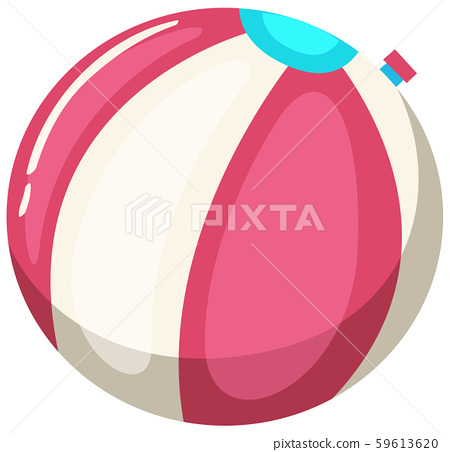 Colourful Beach Ball on White Background 59613620