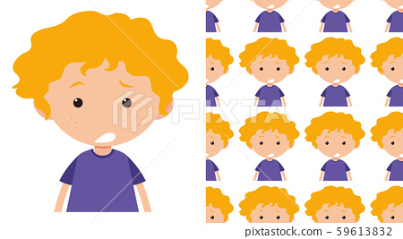 A seamless pattern on white of simple kid 59613832
