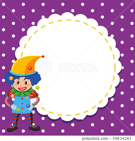 Frame template design with circus clown 59614261