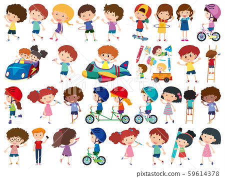 Large set of isolated objects of kids 59614378