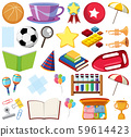 Set of isolated objects theme school 59614423