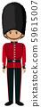 Royal British Soldier Uniform on White Background 59615007