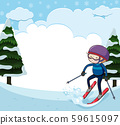 A Blank Ski and Snow Template 59615097