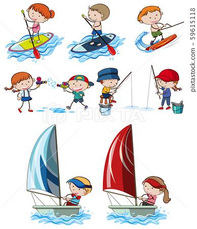 Doodle Kids and Sport Activities 59615118