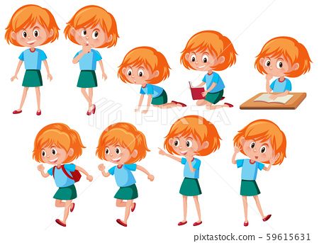 A set of red hair girl 59615631