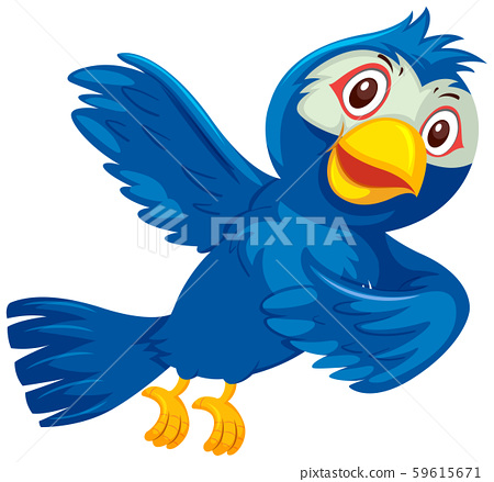 Cute happy blue bird 59615671