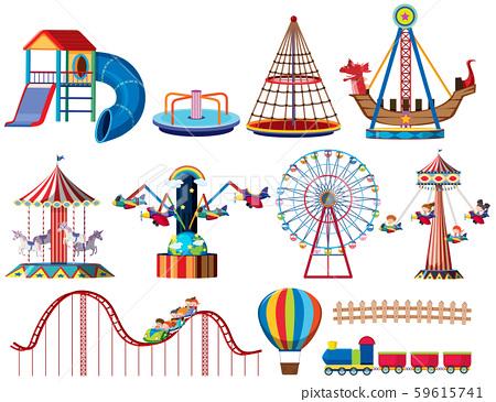 A set of theme park rides 59615741