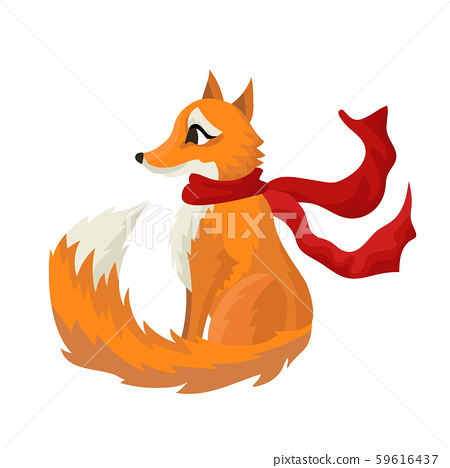 red fox the girl in warm scarf winter forest stock illustration 59616437 pixta red fox the girl in warm scarf winter