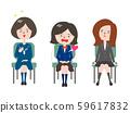 接受面試的各類女學生 59617832