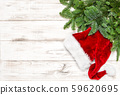 Christmas decoration green pine tree branches 59620695