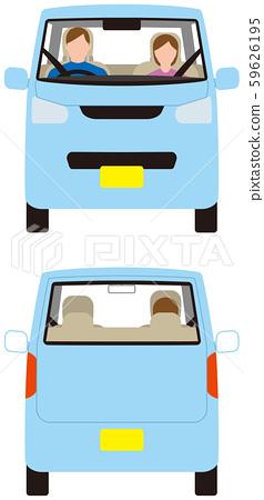車輛。微型汽車前後。矢量素材 59626195