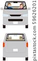 車輛。乘用貨車的前,後廂型。矢量素材 59626201