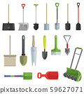 Shovel vector gardening shoveling equipment spade object of agriculture work in garden illustration 59627071