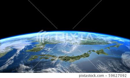 日本JAPAN地球雲空間CG 59627092