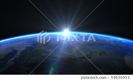 Earth CG Japan Rising Sun 3D Hikari Center 59630953