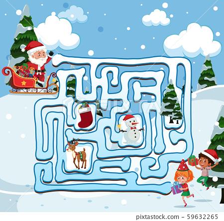 Santa find the way 59632265