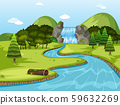 Beautiful waterfall landscape scene 59632269