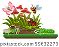 Nature scene with animals 59632273