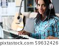 Woman in music studio 59632426